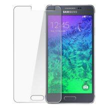 Samsung Galaxy Alpha karcálló edzett üveg Tempered Glass kijelzőfólia kijelzővédő fólia kijelző védőfólia eddzett