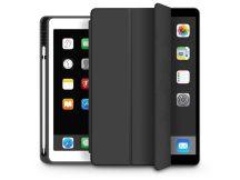 Apple iPad Air 4 10.9 (2020) védőtok (Smart Case) on/off funkcióval, Apple Pencil tartóval - black (ECO csomagolás)