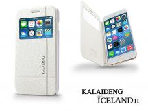 Apple iPhone 6 Plus flipes tok - Kalaideng Iceland 2 Series View Cover - white