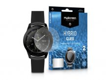 Samsung Galaxy Watch (42 mm) rugalmas üveg képernyővédő fólia - MyScreen Protector Hybrid Glass - 2 db/csomag - transparent
