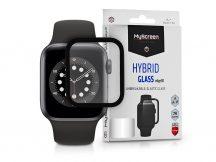 Apple Watch Series 6/SE (44 mm) üveg képernyővédő fólia - MyScreen Protector Hybrid Glass Edge 3D - 1 db/csomag - fekete