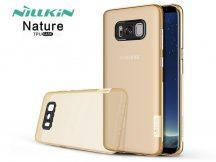 Samsung G955F Galaxy S8 Plus szilikon hátlap - Nillkin Nature - aranybarna