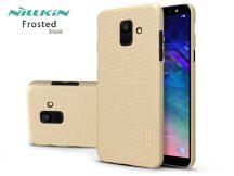 Samsung A600F Galaxy A6 (2018) hátlap képernyővédő fóliával - Nillkin Frosted Shield - gold