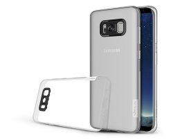 Samsung G955F Galaxy S8 Plus szilikon hátlap - Soft Slim 0,5 mm - transparent