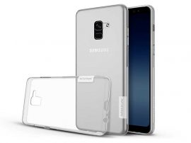 Samsung A730F Galaxy A8 Plus (2018) szilikon hátlap - Soft Clear - transparent