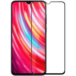 Xiaomi Redmi Note 8 Pro edzett üveg FEKETE TELJES KÉPERNYŐS FULL SCREEN HAJLÍTOTT tempered glass kijelzőfólia kijelzővédő védőfólia karcálló kijelzős