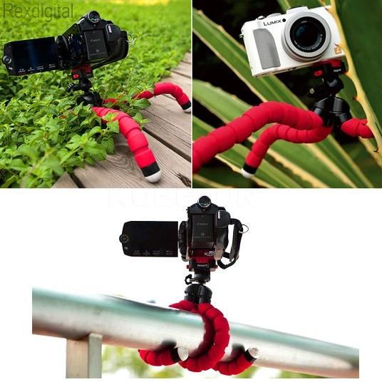 f2b23aa3e76a Rugalmas kameraállvány tripod videó fényképező flexibilis fotó flexible kamera  állvány álvány octopus camera pad