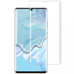 Huawei P30 Pro karcálló edzett üveg HAJLÍTOTT TELJES KIJELZŐS Tempered Glass kijelzőfólia kijelzővédő fólia kijelző védőfólia eddzett UV kötésű