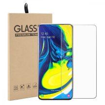 Samsung Galaxy A80 karcálló edzett üveg Tempered Glass kijelzőfólia kijelzővédő fólia kijelző védőfólia eddzett SM-A805F