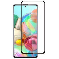 Samsung Galaxy A51 karcálló edzett üveg TELJES KÉPERNYŐS FEKETE Tempered Glass kijelzőfólia kijelzővédő fólia kijelző védőfólia eddzett SM-A405F