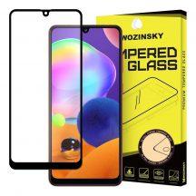 Samsung Galaxy A31 karcálló edzett üveg TELJES KÉPERNYŐS FEKETE Tempered Glass kijelzőfólia kijelzővédő fólia kijelző védőfólia eddzett