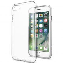 """iPhone 7 és Iphone 8 (4,7"""") átlátszó szilikontok vékony fényes telefontok tok tartó Apple"""