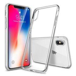 """iPhone XS MAX (6,5"""") átlátszó szilikontok vékony fényes telefontok tok tartó Apple"""