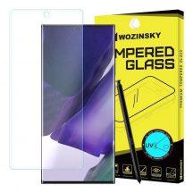 Samsung Galaxy Note 20 Ultra SM-N986 karcálló edzett üveg HAJLÍTOTT TELJES KIJELZŐS UV ragasztó Tempered Glass kijelzőfólia kijelzővédő fólia kijelző védőfólia eddzett
