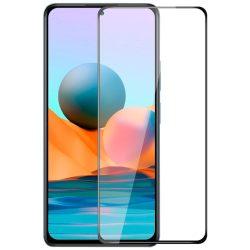 Xiaomi Redmi Note 10 (5G) edzett üveg fekete hajlított TELJES KÉPERNYŐS FULL SCREEN HAJLÍTOTT tempered glass kijelzőfólia kijelzővédő védőfólia karcálló kijelzős
