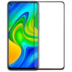 Xiaomi Redmi Note 9 / Redmi 10X 4G / Redmi Note 9T  edzett üveg FEKETE TELJES KÉPERNYŐS FULL SCREEN HAJLÍTOTT tempered glass kijelzőfólia kijelzővédő védőfólia karcálló kijelzős
