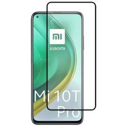 Xiaomi Mi 10T / Mi 10T Pro edzett üveg 5D FEKETE TELJES KÉPERNYŐS FULL SCREEN HAJLÍTOTT tempered glass kijelzőfólia kijelzővédő védőfólia karcálló kijelzős