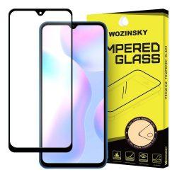 Xiaomi Redmi 9A / 9C / 9AT edzett üveg FEKETE TELJES KÉPERNYŐS FULL SCREEN HAJLÍTOTT tempered glass kijelzőfólia kijelzővédő védőfólia karcálló kijelzős
