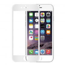 Apple iPhone 6 6S 7 8 edzett üveg FEHÉR TELJES KÉPERNYŐS FULL SCREEN HAJLÍTOTT tempered glass kijelzőfólia kijelzővédő védőfólia karcálló kijelzős