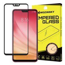 Xiaomi Mi 8 Lite edzett üveg FEKETE TELJES KÉPERNYŐS FULL SCREEN HAJLÍTOTT tempered glass kijelzőfólia kijelzővédő védőfólia karcálló kijelzős