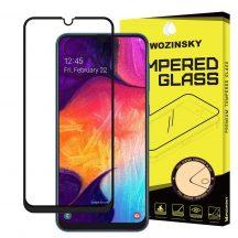 Samsung Galaxy A50 A30 karcálló edzett üveg TELJES KÉPERNYŐS FEKETE Tempered Glass kijelzőfólia kijelzővédő fólia kijelző védőfólia eddzett SM-A505F