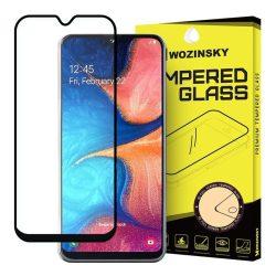 Samsung Galaxy A20e karcálló edzett üveg TELJES KÉPERNYŐS FEKETE Tempered Glass kijelzőfólia kijelzővédő fólia kijelző védőfólia eddzett SM-A202F