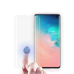Samsung Galaxy S10 SM-G973 karcálló edzett üveg HAJLÍTOTT TELJES KIJELZŐS Tempered Glass kijelzőfólia kijelzővédő fólia kijelző védőfólia eddzett