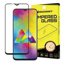 Samsung Galaxy M10 karcálló edzett üveg TELJES KÉPERNYŐS FEKETE Tempered Glass kijelzőfólia kijelzővédő fólia kijelző védőfólia eddzett SM-M105F