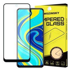 Xiaomi Redmi Note 9 Pro / Note 9S edzett üveg FEKETE TELJES KÉPERNYŐS FULL SCREEN HAJLÍTOTT tempered glass kijelzőfólia kijelzővédő védőfólia karcálló kijelzős