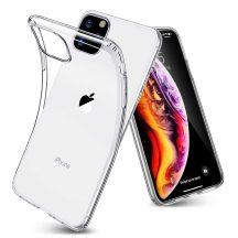 iPhone 11 Pro átlátszó szilikontok vékony fényes telefontok tok tartó Apple
