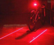 Lézeres kerékpár hátsó lámpa vörös/piros láthatóság lámpa villogó led pointer fény bicikl