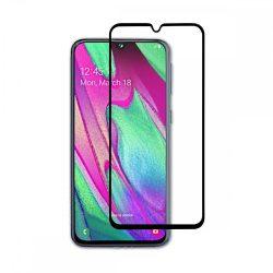 Samsung Galaxy A40 karcálló edzett üveg TELJES KÉPERNYŐS FEKETE Tempered Glass kijelzőfólia kijelzővédő fólia kijelző védőfólia eddzett SM-A405F
