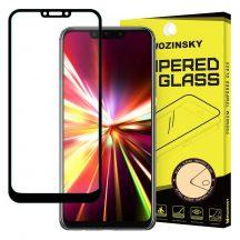 Huawei Mate 20 LITE edzett üveg FEKETE TELJES KÉPERNYŐS FULL SCREEN HAJLÍTOTT tempered glass kijelzőfólia kijelzővédő védőfólia karcálló kijelzős