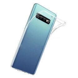 Samsung Galaxy S10 átlátszó szilikontok vékony fényes telefontok tok tartó SM-G973