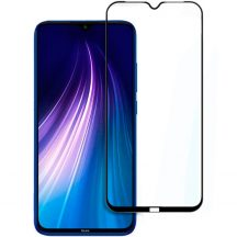 Xiaomi Redmi Note 8 edzett üveg FEKETE TELJES KÉPERNYŐS FULL SCREEN HAJLÍTOTT tempered glass kijelzőfólia kijelzővédő védőfólia karcálló kijelzős