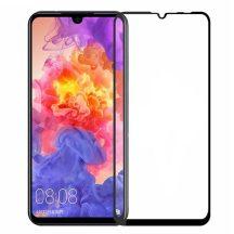 Huawei P30 lite edzett üveg FEKETE TELJES KÉPERNYŐS FULL SCREEN HAJLÍTOTT tempered glass kijelzőfólia kijelzővédő védőfólia karcálló kijelzős