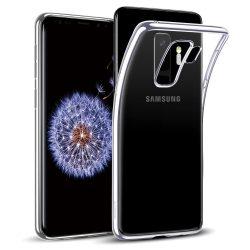 Samsung Galaxy S9 Plus átlátszó szilikontok vékony fényes telefontok tok tartó SM-G965F