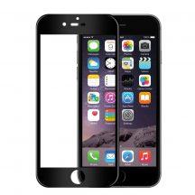 Apple iPhone 6 6S 7 8 edzett üveg FEKETE TELJES KÉPERNYŐS FULL SCREEN HAJLÍTOTT tempered glass kijelzőfólia kijelzővédő védőfólia karcálló kijelzős