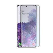 Samsung Galaxy S20 Ultra SM-G988 karcálló edzett üveg HAJLÍTOTT TELJES KIJELZŐS Tempered Glass kijelzőfólia kijelzővédő fólia kijelző védőfólia eddzett