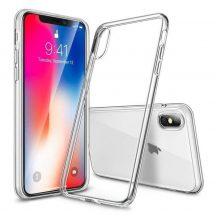 """iPhone XR (6,1"""") átlátszó szilikontok vékony fényes telefontok tok tartó Apple"""