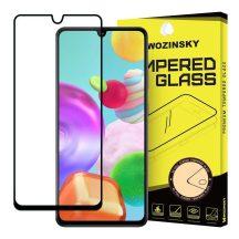Samsung Galaxy A41 karcálló edzett üveg TELJES KÉPERNYŐS FEKETE Tempered Glass kijelzőfólia kijelzővédő fólia kijelző védőfólia eddzett SM-A415