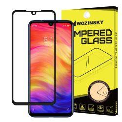 Xiaomi Redmi Note 7 edzett üveg FEKETE TELJES KÉPERNYŐS FULL SCREEN HAJLÍTOTT tempered glass kijelzőfólia kijelzővédő védőfólia karcálló kijelzős