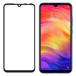 Xiaomi Redmi 7 edzett üveg FEKETE TELJES KÉPERNYŐS FULL SCREEN HAJLÍTOTT tempered glass kijelzőfólia kijelzővédő védőfólia karcálló kijelzős