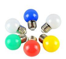 Színes E27 LED izzó égő villanykörte hangulatos E-27