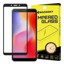 Xiaomi Redmi 6 6A edzett üveg FEKETE TELJES KÉPERNYŐS FULL SCREEN HAJLÍTOTT tempered glass kijelzőfólia kijelzővédő védőfólia karcálló kijelzős