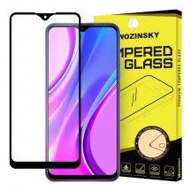 Xiaomi Redmi 9 edzett üveg FEKETE TELJES KÉPERNYŐS FULL SCREEN HAJLÍTOTT tempered glass kijelzőfólia kijelzővédő védőfólia karcálló kijelzős