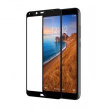Xiaomi Redmi 7A edzett üveg FEKETE TELJES KÉPERNYŐS FULL SCREEN HAJLÍTOTT tempered glass kijelzőfólia kijelzővédő védőfólia karcálló kijelzős