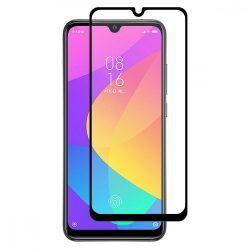Xiaomi Mi A3 / Mi CC9e FEKETE TELJES KÉPERNYŐS FULL SCREEN HAJLÍTOTT tempered glass edzett üveg kijelzőfólia kijelzővédő védőfólia karcálló kijelzős