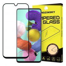 Samsung Galaxy A71 / Note 10 lite karcálló edzett üveg TELJES KÉPERNYŐS FEKETE Tempered Glass kijelzőfólia kijelzővédő fólia kijelző védőfólia eddzett SM-A715F