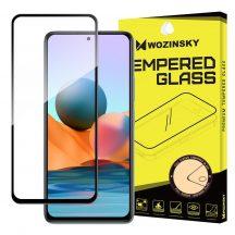 Xiaomi Redmi Note 10 / Note 10s (4G) edzett üveg 5D FEKETE TELJES KÉPERNYŐS FULL SCREEN HAJLÍTOTT tempered glass kijelzőfólia kijelzővédő védőfólia karcálló kijelzős